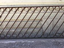 Gorgeous Antique Vintage Old Wrought Iron Hand Rail Staircase Banister