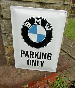 BMW Parking Only LARGE Official Wall Sign Made In Germany - Bmw parking only signs