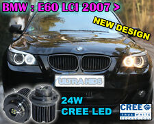 BMW E60 E61 LCI Facelift 2007 + HALOGEN ANGEL EYES 24W LED HALO CREE WHITE rings