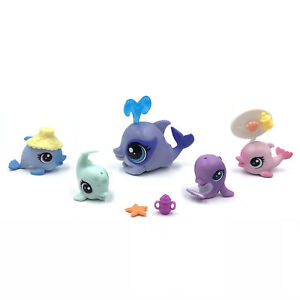 Littlest Pet Shop Toys Lot Lps Toys Dolphin 226230 Kids Gifts With