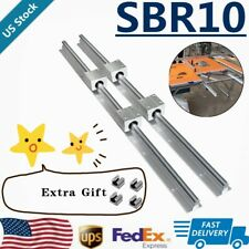 Sbr10 Linear Rail Guide 300mm 1500mm Slide Shaft Rod8x Sbr10uu Bearing Block