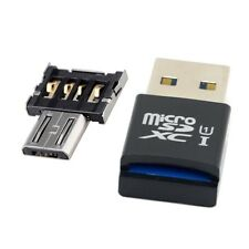 Mini Size USB 3.0 to Micro SD SDXC TF Card Reader with Micro USB 5P OTG Adapter