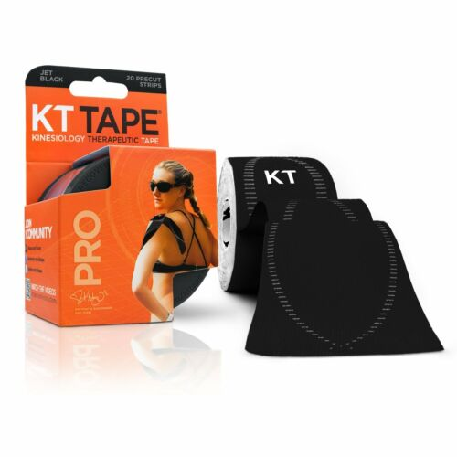 KT Tape Pro Kinesiology Elastic Sports Tape Support Jet Black