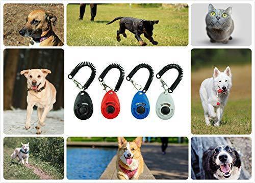 4 PCS Dog Training Clicker with Wrist Strap Pet New Upgrade Version Set HOUSE