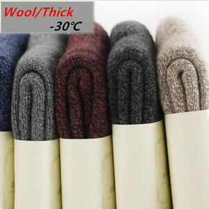 5-Pack-Men-Women-Wool-Cashmere-Socks-Thicken-Warm-Cushioned-Casual-Solid-Winter
