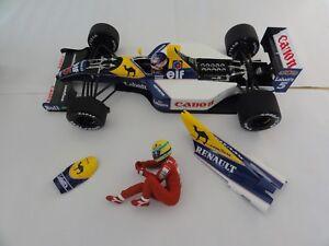 Minichamps-F1-1-18-WILLIAMS-FW14-Senna-Mansell-Taxi-British-GP-1991-tres-rare