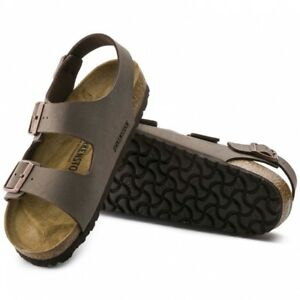 Image is loading Birkenstock-MILANO-Mens-Triple-Buckle-Adjustable-Flat -Summer- a6fa738f4b0