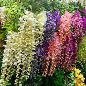 12Pack-Artificial-Silk-Wisteria-Vine-Hanging-Garland-Wedding-Garden-Decor-3-6ft