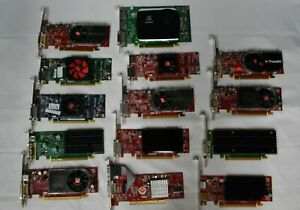 LOT-OF-14-Video-Cards-Mixed-Brands-Profiles