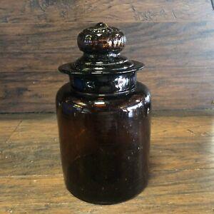 Botella-Vintage-Grandes-BOTICARIO-FARMACEUTICO-Farmacia-Tarro-de-Vidrio-Burbuja-W-Tapa