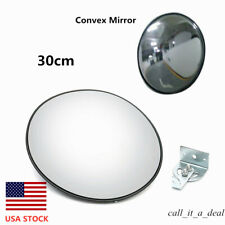 "NEW Convex Mirror 12/"" 30cm Blind Spot Wide Angle Traffic Driveway Workshop Black"