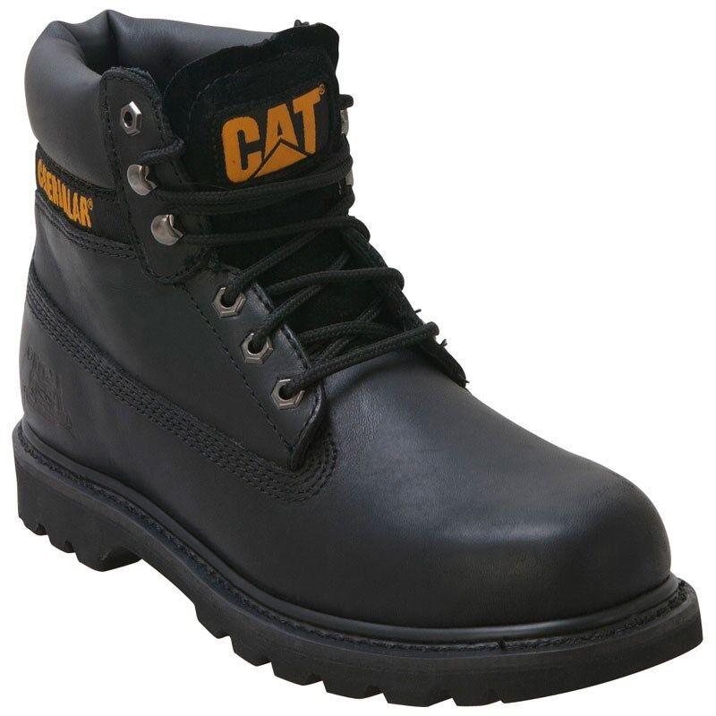 Men's Caterpillar Work Boots colorado Black Leather Medium