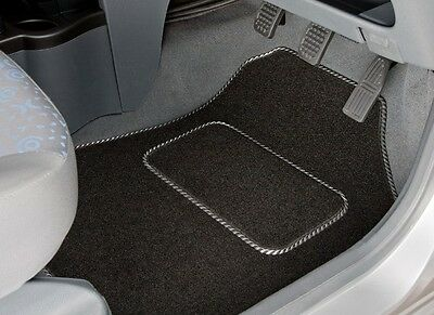 MERCEDES CLK (2003 - 2009) TAILORED CAR MATS WITH SILVER TRIM (2550)