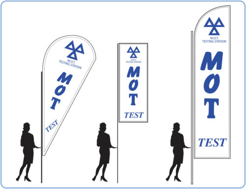 MOT flags, great for garages Mot testing repair flags banners UK 1