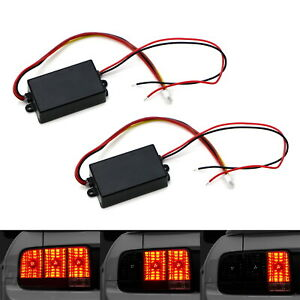 Universal 3-Step Sequential Chase Flash Module Boxes For Car Turn Signal Light