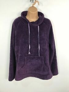 WOMENS-MARKS-amp-SPENCER-PLUM-PURPLE-SOFT-FLEECE-JUMPER-SWEATER-PULL-OVER-MEDIUM-M
