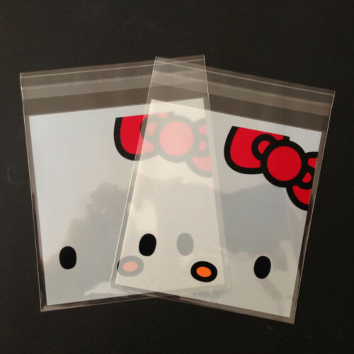 25 pc Hello Kitty Self Seal Plastic Bag Jewelry Packing Gift Bags For Party B1