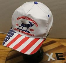 OREGON MOOSE ASSOCIATION 2002 STATE SCRAMBLE HAT SNAPBACK RED, WHITE & BLUE XE