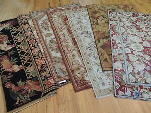 3x5 Small Rugs French Aubusson Style Needlepoint Oriental Area Rug