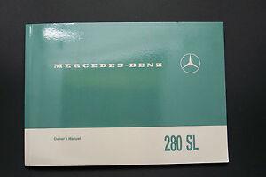 1968 mercedes 280sl pagoda owners manual 280sl w 113 parts service rh ebay com 1972 Mercedes 280SL 1982 Mercedes 280SL