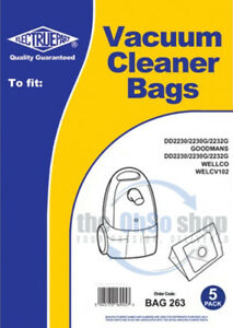5-x-WELLCO-Vacuum-Cleaner-Dust-Bags-To-Fit-WELCV102-WELCV103