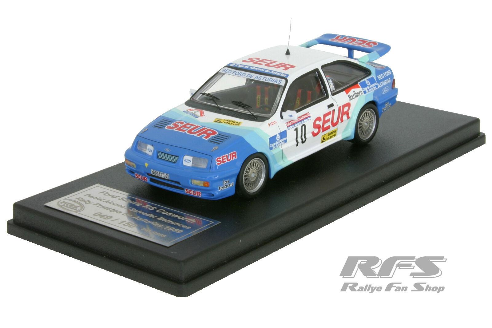 Ford sierra rs cosworth-rallye príncipe de Asturias 1989-Alonso 1 43 trofeu