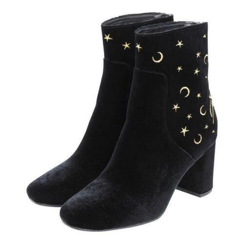 Sailor Moon High Ankle Boots black S size GU Limited collaboration shoes Velour