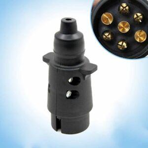 7-pin-Plug-Trailer-Car-Caravan-Wiring-Lights-Tow-12v-volt-PLASTIC-12N-CY1X