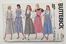 Vintage 1986 Butterick Sewing Pattern 3961 Dress UNCUT PLUS SIZE 12 14 16 1980s