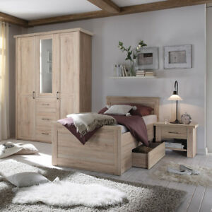 Komfort Schlafzimmer Luca Komfortzimmer Set Eiche San Remo Mit