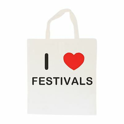 I Love Festivals - Cotton Bag | Size choice Tote, Shopper or Sling