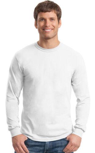 Gildan Men/'s Ultra Blend Moisture-Wicking Long-Sleeve T-Shirt G8400 Pack10