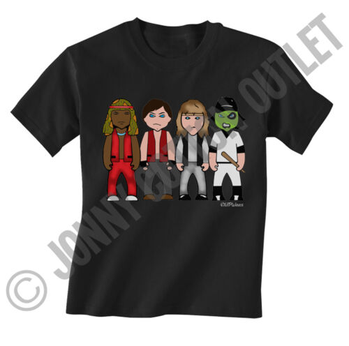 VIPwees Childrens T-Shirt 70`s Classic Movies Inspired Caricatures Choose Design