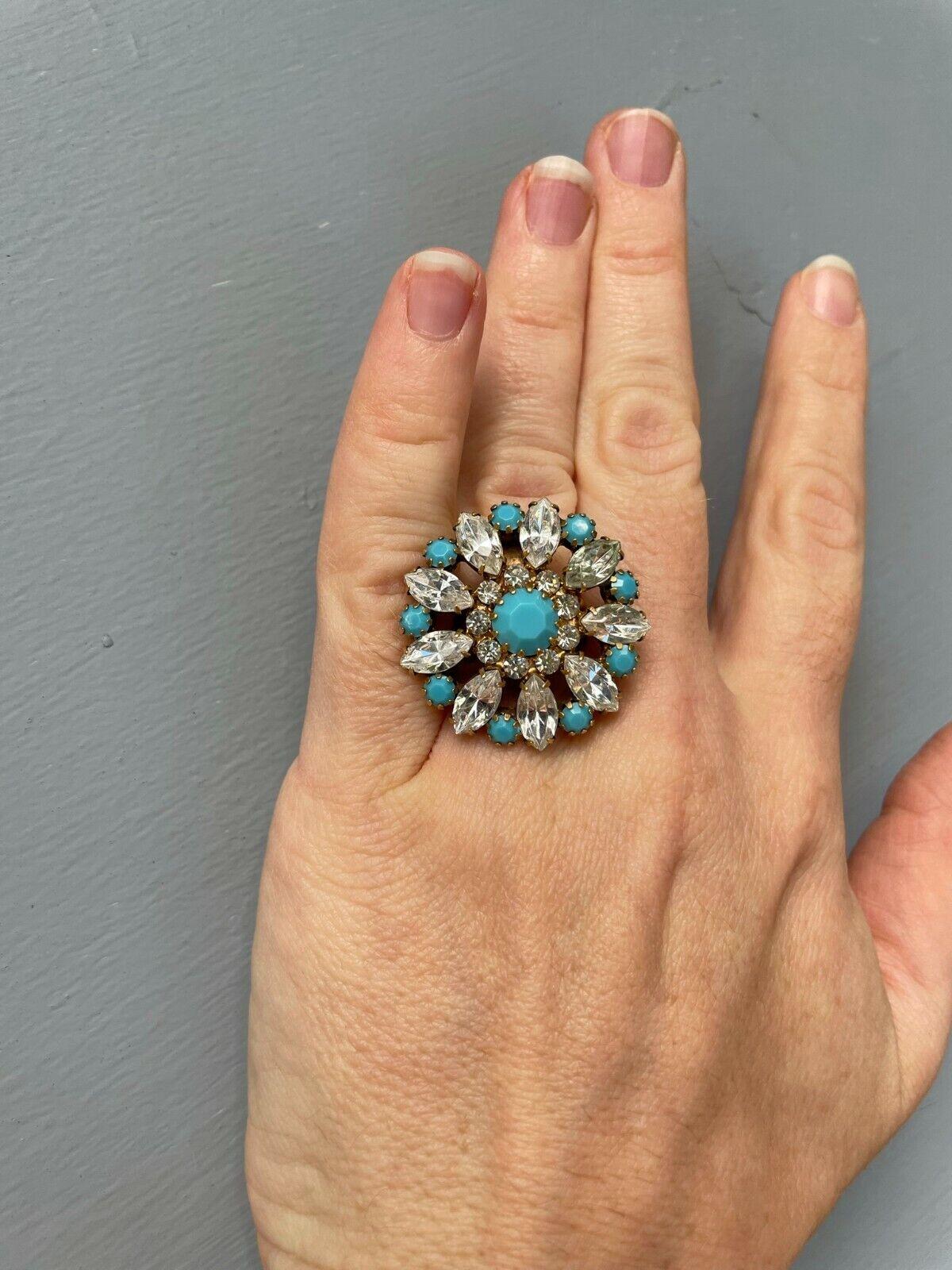 Fabulous Statement Elizabeth Cole Turquoise & Cry… - image 2