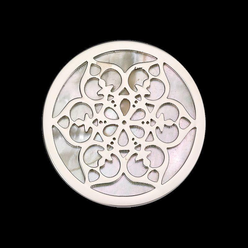 Coin CS276 von CEM für 33 mm Anhängerrahmen Edelstahl Perlmutt