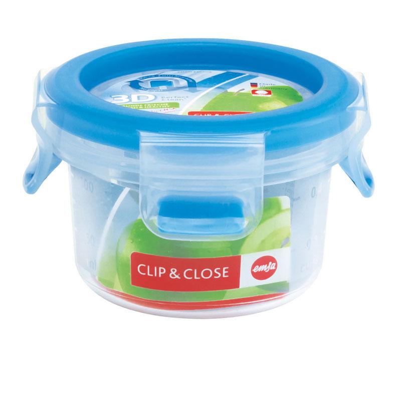 Emsa 12 Set Clip&Close 3D Perf Clean Almacenamiento Alimentos Contenedor