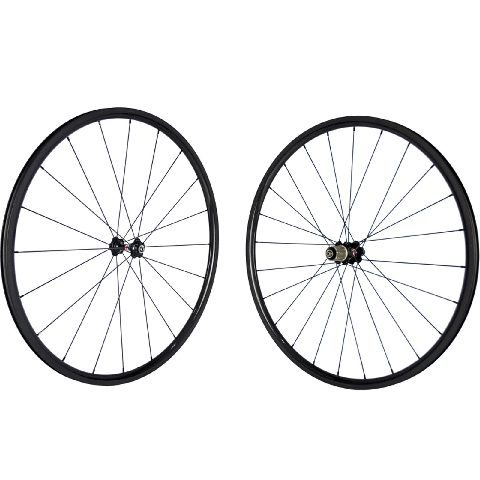 24mm Carbon Clincher Road Wheelset 23mm Wide Carbon Bike Wheels 271 Hub Bicycle