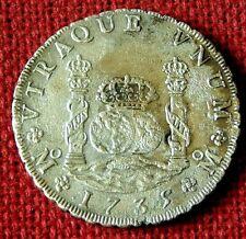 Superb Rare LARGE FLAN 1735 Piece of 8 or 8 Reale  - HOLLANDIA shipwreck 1743