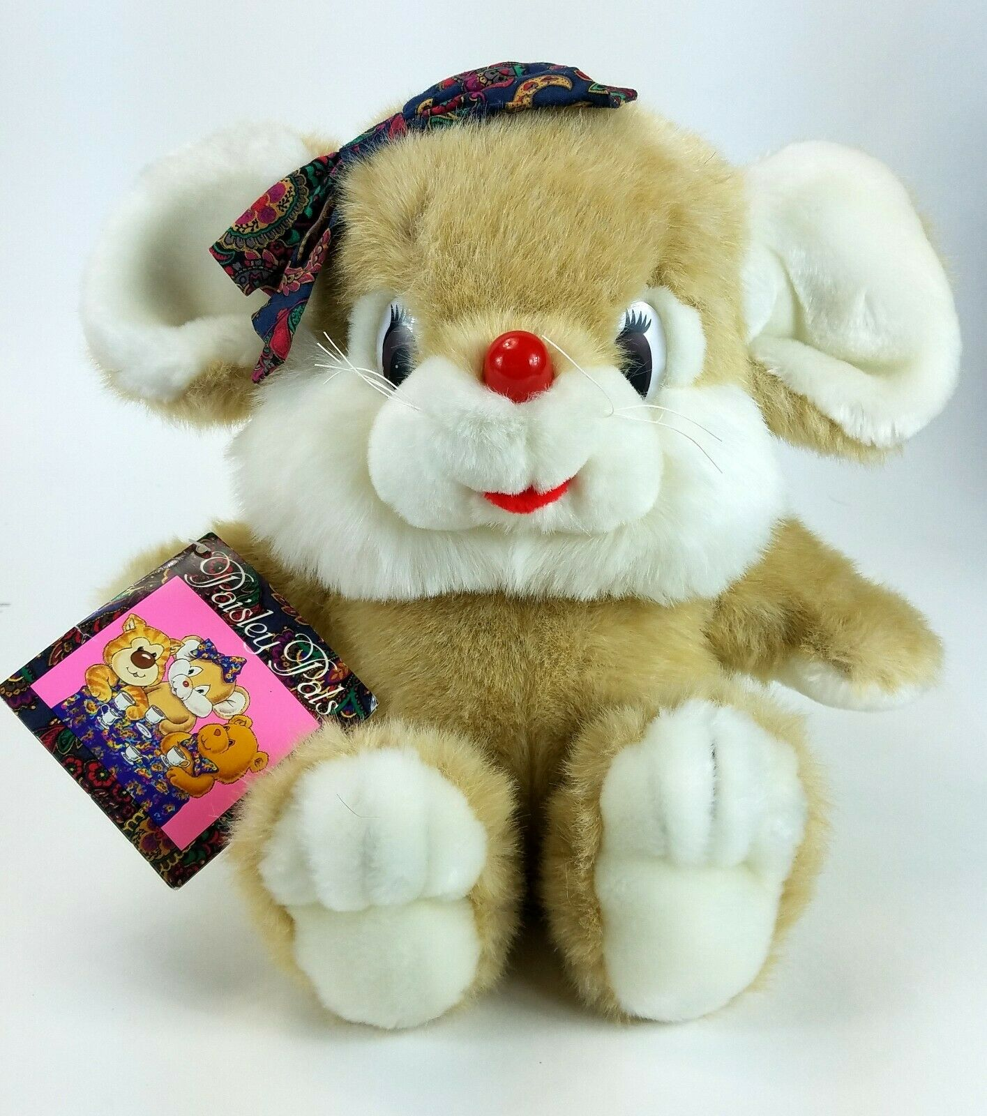 Vintage 1990 Paisley Pals Pamela Commonwealth Toy Plush Mouse Target Exclusive