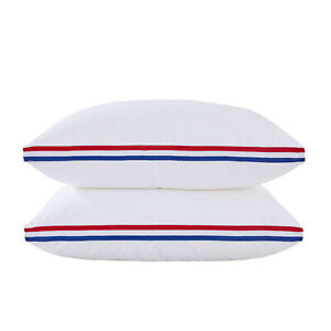 HIG-100-Cotton-Cover-With-Memory-Fiber-Filled-Gusseted-Bed-Pillow-SET-2-PACK