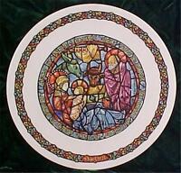 D'arecau Limoges Dans La Creche Collector Plate 2 Mary Joseph Jesus Ck379