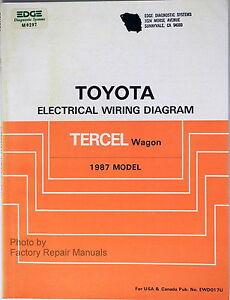 1987 toyota tercel wagon electrical wiring diagrams original shop rh ebay com Wiring-Diagram Toyota FJ40 Toyota Sequoia Wiring-Diagram
