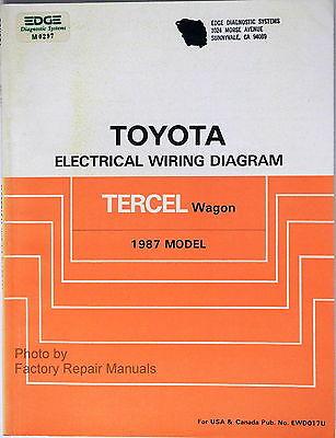1987 toyota tercel wagon electrical wiring diagrams – original shop manual   ebay