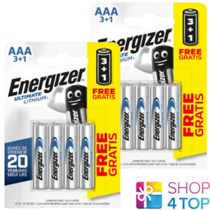 8 ENERGIZER AAA ULTIMATE LITHIUM L92 BATTERIES 1.5V MICRO MINI STILO NEW