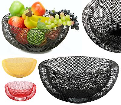 24/30cm Mesh Ciotola Frutta Dinning Table Verdura Cesto Di Frutta Ciotola Rack Storage- Supplemento L'Energia Vitale E Il Nutrimento Yin