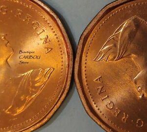 1983 Canada 1 Cent Near and Far Bead BU