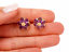Designer-Estate-14K-Gold-5ct-Amethyst-Stained-Glass-Flower-Pierced-Earrings-Box thumbnail 1