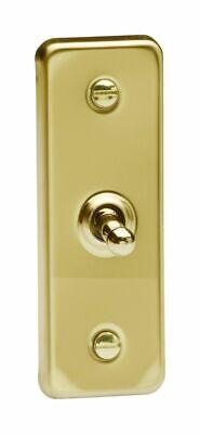 Varilight XVA1D Architrave Victorian Brass 1 Gang 2 Way Rocker Switch 87mmx32mm