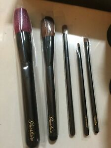 Guerlain-5pc-makeup-brush-set-for-face-cheek-eyeshadow-lip-NEW