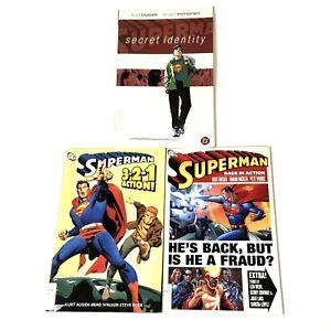DC-Comics-Superman-TPB-Graphic-Novels-Lot-Secret-Identity-3-2-1-Action-Back-In